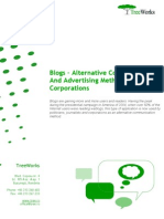Blogs - Alternative communication and advertising methods for corporations