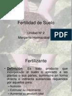 Fertilidad de Suelo, Clases 2011