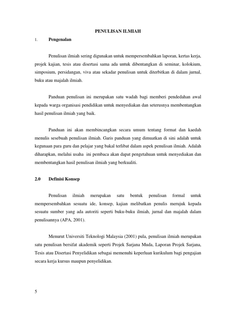 Dokumen Serupa Dengan Format Penulisan Ilmiah