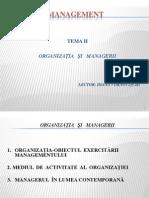 Organizatia si Managerii.