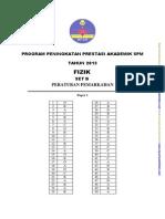 Trial Kedah SPM 2013 FIZIK SKEMA K1 K2 K3 SET B