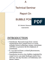 Bubble Power Ppt