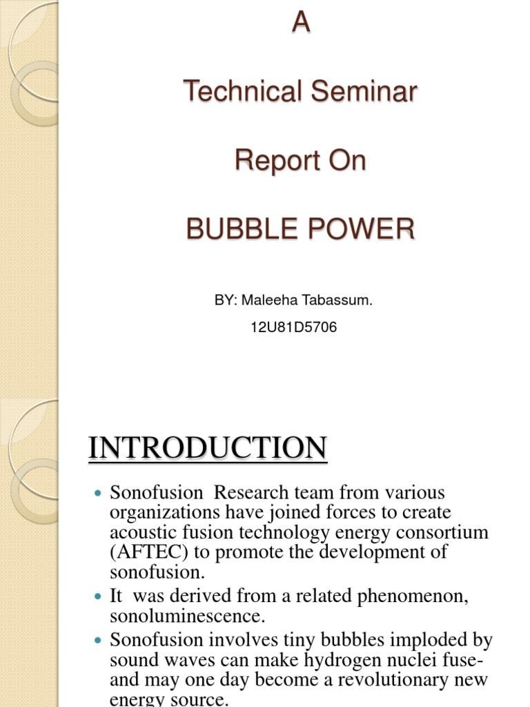 Bubble power report | nuclear fusion | deuterium.