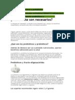 Alimentos prebióticos y probióticos