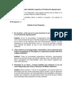Analisis de La Encuesta Realizada a Expertos en Produccion Agropecuaria