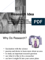 Research Idea by Dr. Yuwono