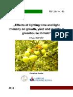 Stadler, C. 2012 Effects of Lighting Time and Light