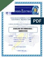 ANALISIS de DEMANDA - Ejercicios - Instalaciones Electricas II