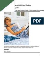 52011 Mini Dress With Shirred Bodice Original
