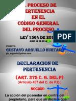 El Proceso de Pertenencia en el Código General del Proceso
