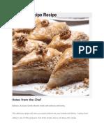 Baklava Recipe Recipe
