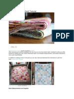 Colors Patchwork Quilt Tutorial