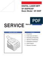 Samsung Digital Laser MFP SF-565PR SF-565P Parts and Service Manual