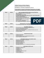 Lista Instrumental e material Dentística clínica 2013.2 (1) sirlane