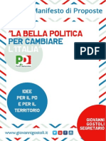 LA BELLA POLITICA. PER CAMBIARE L'ITALIA. Il manifesto aperto di proposte per il Pd e per il territorio provinciale