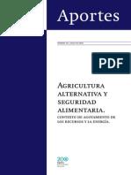 Agricultura Alternativa y Seguridad Alimentaria. Kierschenmann, F. INTI-Serie Argentina Bicentenario. 2010