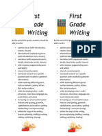 first grade writing parent bookmark