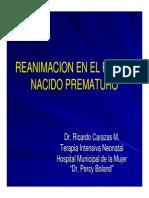 Reanimacion en El Recien Nacido Prematuro