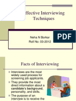 Effective Interviewing Techniques