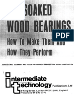 Low-Cost Wooden & Other Bearings Etc.