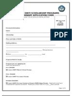 Application Form Dikti Fulbright