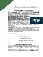 Evaluación Nacional Intersemestral 2013 ciudad como ppta cultura