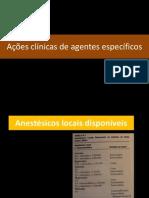 Acões clínicas de agentes específicos