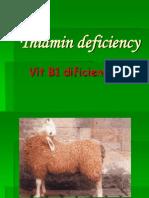 Thiamin Deficiency