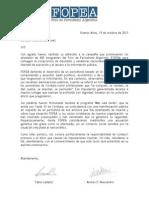 Carta del Foro de Periodismo Argentino a Luis Juez