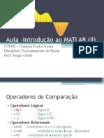 Lab 1b - Introdução ao MATLAB 2s_2012 - continuacao
