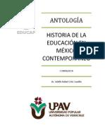 ANTOLOGÍA HISTORIA DE LA EDUCACIÓN EN MEXICO