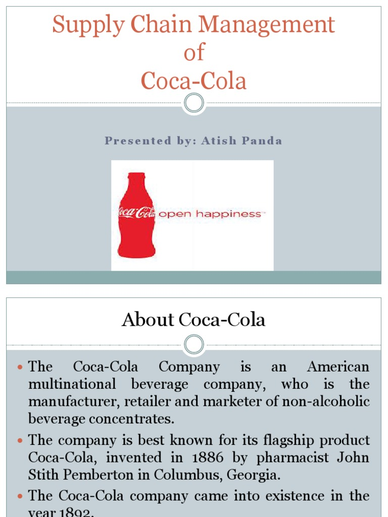 coca cola supply chain management ppt