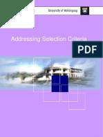 Addressing Selection Criteria