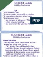 KLC/KICNET Update