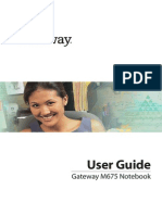 Gateway M675 Notebook Manual