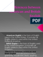 Differences Between American and British English (1)