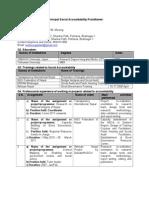 CV Tamplate for SA Coordinator.doc