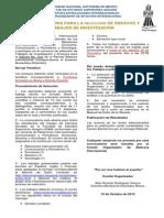 Convocatoria para selección de Ensayos y Trabajos de Investigación