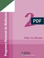 Programa Nacional de Mediación Escolar - Taller