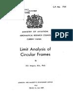 Limit Analysis of Circular Frames
