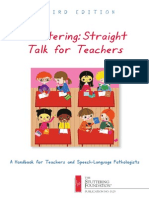stuttering-straight talk for teachers