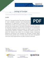 Managed hosting in Europe - June 2009