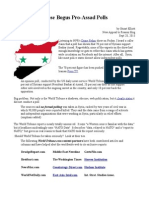 Those Bogus Syria Polls