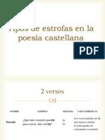Tipos de estrofas en la poesía castellana