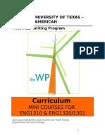 curriculum for mini courses