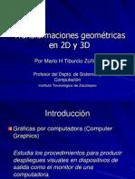 Transformaciones 2D y 3D