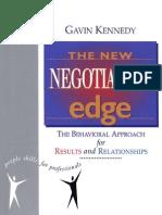 Kennedy, Gavin - The New Negotiation Edge