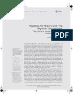 Nigerian Art and Hegelian Unconscious