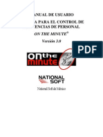 Manual de Usuario on the Minute
