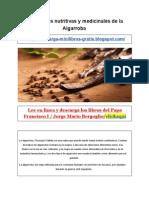 Propiedades Nutritivas y Medicinales de La Algarroba